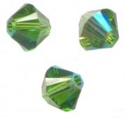 TOUPIES SWAROVSKI® ELEMENTS  4mm   FERN GREEN AB  X 50 perles