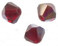 TOUPIES SWAROVSKI® ELEMENTS  4mm  GARNET AB X 50 perles
