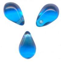 GOUTTES LISSES AB EN VERRE 6 X 9  CAPRI BLUE AB  X 25