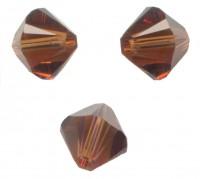 TOUPIES SWAROVSKI® ELEMENTS  6MM  SMOKED TOPAZ X 20 perles