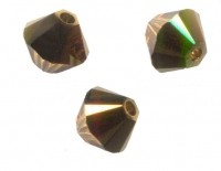 TOUPIES SWAROVSKI® ELEMENTS  4mm AB  TOPAZ DORADO  X 50 perles
