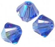 TOUPIES SWAROVSKI® ELEMENTS  6 mm AB  SAPPHIRE AB  X 20 perles