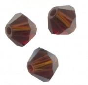 TOUPIES SWAROVSKI® ELEMENTS  6MM  MOCCA  X 20 perles