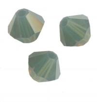 TOUPIES SWAROVSKI® ELEMENTS  6MM  PALACE GREEN OPAL  X 20 perles