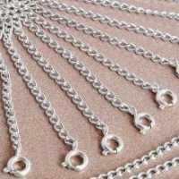 Rallonge en plaqué argent avec fermoir Longueur 55 mm, anneau diametre 6 mm Qte : 2