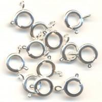 Fermoir , attache de collier , couleur argent rond 9 mm<br /> Qte : 5