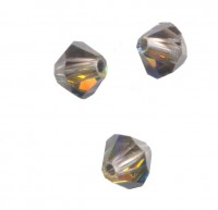 TOUPIES SWAROVSKI® ELEMENTS  4mm AB CRYSTAL TABAC X 50 perles