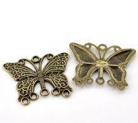 Connecteurs Papillon Couleur Bronze 36mm x 29mm  X 5