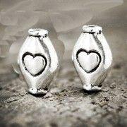 Perles intercalaires  Losange en Argent Tibétain  11x4mm  ...taille du trou = 1.5 mm Qte : 5