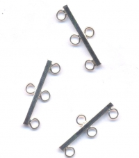 Intercalaires 3 rangs argent 25 x 3 taille du trou = 1 mm Qte : 5