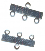 INTERCALAIRES. BARRETTES 3 RANGS ARGENT 23 X 10 mm