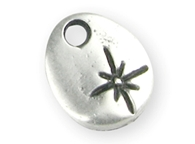 BRELOQUES OVALES ARGENT ~13MM 