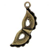 Breloques Masque Bronze 31x11mm  X 2