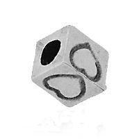 INTERCALAIRES. DE ARGENT.  7 mm..taille du trou = 3.2 mm  X 5