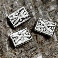 Intercalaires  Rectangles en Argent Tibétain 7x5mm  taille du trou = 1.5 mm Qte : 10