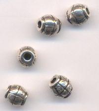 Intercalaires Ronds en Argent Tibétain 7.5x7.5mm  taille du trou = 2 mm X 5