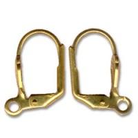 Dormeuses...  boucles d'oreilles dorees  16 x 8 x 20 ( 10 paires)