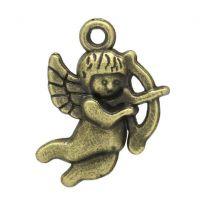 Pendentifs breloques Cupidon Amour Bronze 22x18mm  X 2