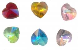 6 Coeurs de boheme brillants 14 x 14 x 8