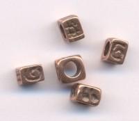 Des fantaisies motif viel or 5 X 4 mm taille du trou = 2 mm Qte: 10