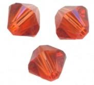 TOUPIES SWAROVSKI® ELEMENTS  6MM  INDIAN RED  X 20 perles
