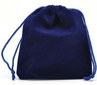 Pochettes Cadeau en Velventine Bleu Foncé 120 x 100 mm X 10