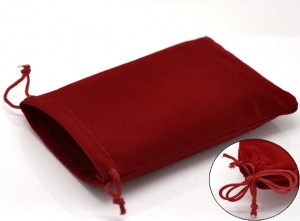 Pochettes Velours Rouge  15x10cm X 5