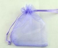 Pochettes cadeau Organza Violet 90x70 mm X 5