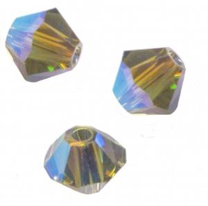 TOUPIES SWAROVSKI® ELEMENTS 4 mm  BLACK DIAMOND AB2X X 50 perles