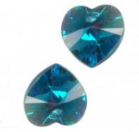 COEURS SWAROVSKI® ELEMENTS 10.3 X 10 BLUE ZIRCON AB X 6