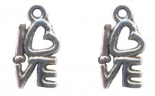 Breloques LOVE 14 X 8 mm Qte : 2