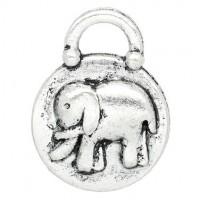 Pendentifs breloques  Éléphant  19x15mm  Qte : 2