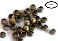Intercalaires,perles à écraser bronze 2 mm<br /> Qte : 100