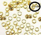 Intercalaires,perles à écraser or 2 mm<br /> Qte : 100
