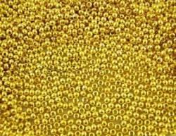 Perles intercalaires Lisse Rond Doré 3mm x 1000...taille du trou = 1 mm