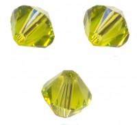 TOUPIES SWAROVSKI® ELEMENTS  6MM  LIGHT OLIVINE X 20 perles