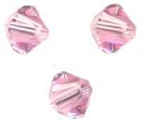 TOUPIES SWAROVSKI® ELEMENTS  6MM  LIGHT ROSE X 20 perles