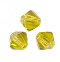 TOUPIES SWAROVSKI® ELEMENTS 6MM  LIME X 20 perles