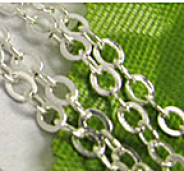 Chainette maille  argent ep: 3 mm