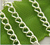 Chainette maille argent ep: 2 mm 1 metre
