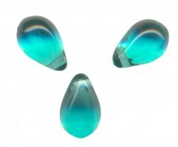 GOUTTES LISSES EN VERRE 6 X 9 BLUE ZIRCON X 25