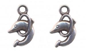 Breloques dauphin 10 x 10 Qte : 2