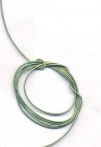 Coton ciré Ø 1 mm Couleur : vert 1 metre