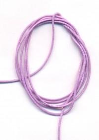 Coton ciré Ø 1 mm Couleur : mauve 1 metre
