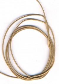 Coton ciré Ø 1 mm Couleur : or 1 metre