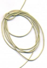 Coton ciré Ø 1 mm Couleur : anis 1 metre