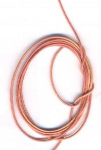 Coton ciré Ø 1 mm Couleur : orange 1 metre