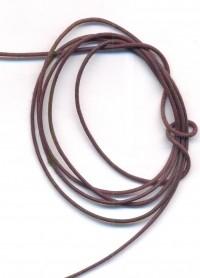 Coton ciré Ø 1 mm Couleur : marron 1 metre