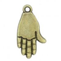 Pendentifs breloques  Paume Bronze  24x13mm  Qte : 2