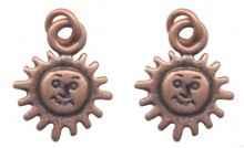 Breloques cuivrees soleil 15X10mm Qte : 2